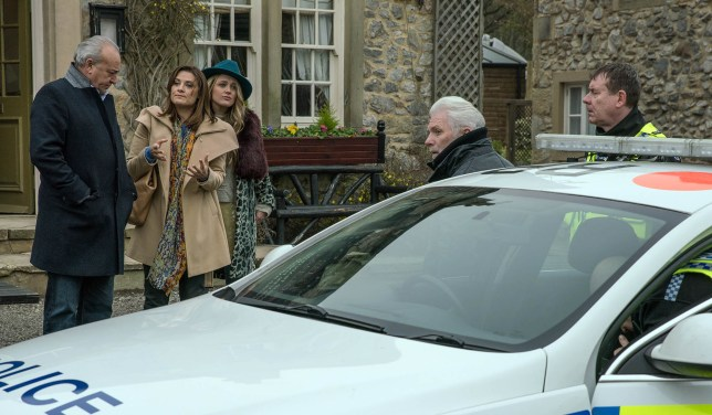 FROM ITV STRICT EMBARGO - Print media - No Use Before Tuesday 21st February 2017 Online Media - No Use Before 0700hrs Tuesday 21st February 2017 Emmerdale - Ep 7763 Thursday 2nd March 2017 - 2nd Ep Ronnie n a manner which alters the visual appearance of the person photographed deemed detrimental or inappropriate by ITV plc Picture Desk. This photograph must not be syndicated to any other company, publication or website, or permanently archived, without the express written permission of ITV Plc Picture Desk. Full Terms and conditions are available on the website www.itvpictures.com