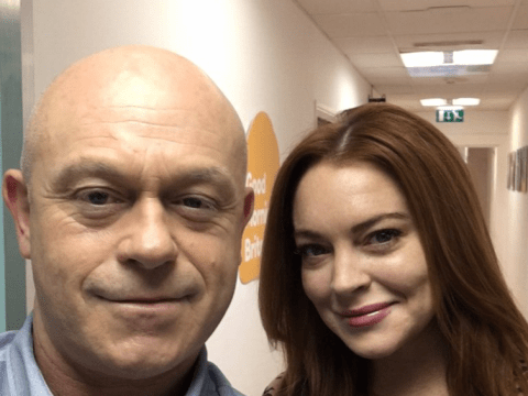 This picture of Ross Kemp and Lindsay Lohan is the most random celeb selfie we've ever seen