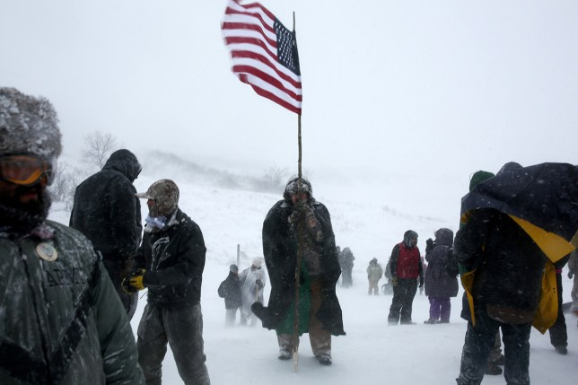 Veterans protesting against the Dakota Access pipeline (Picture: Reuters)