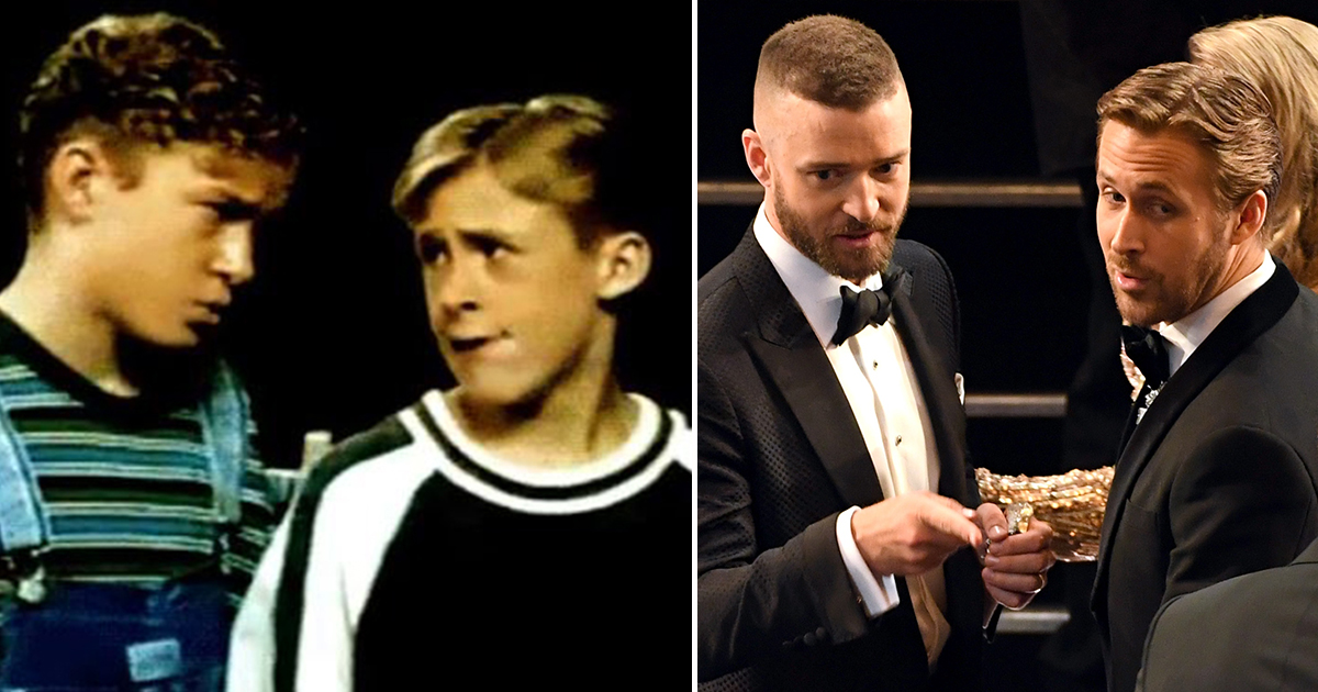 Ryan Gosling and Justin Timberlake had a Mickey Mouse Club Reunion at the Oscars