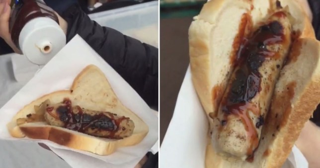 WATCH: AUSSIE TAKES ONE FOR THE TEAM, REVIEWS THE UK BUNNINGS' SNAG SIZZLE AKA trash people don't understand how amazing bunnings is