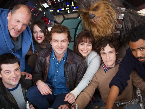 Here are the cast of the upcoming Star Wars Han Solo film on board the Millennium Falcon