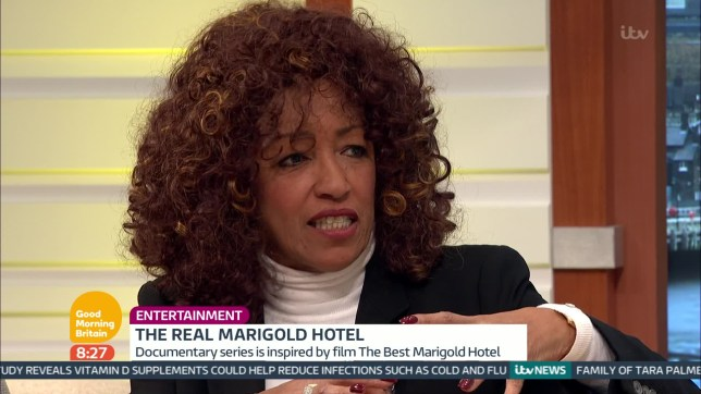 The Real Marigold Hotel star Sheila Ferguson reveals she went on her first date in eight years (Picture: ITV)