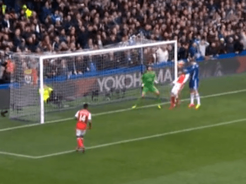 Exposed: Theo Walcott's criminal lack of effort for Chelsea's opening goal against Arsenal