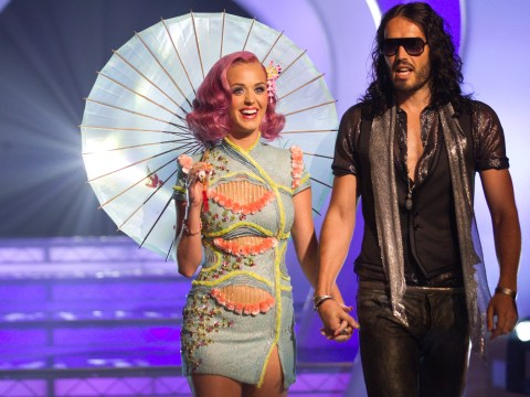 Russell Brand and Katy Perry had a huge fight on the eve of their wedding according to David Baddiel