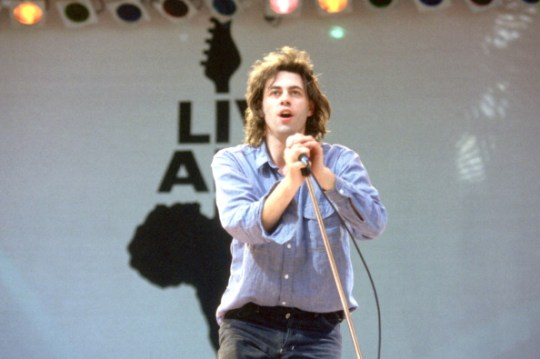 Bob Geldof performing with the Boomtown Rats