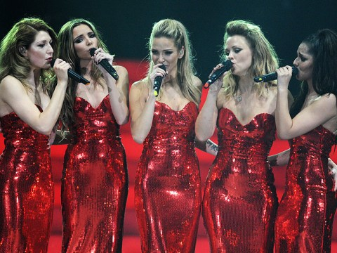 Cheryl is congratulated by all of her Girls Aloud bandmates as 'proud' Sarah Harding gushes on Twitter