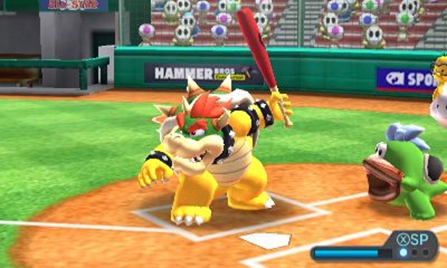 Mario Sports Superstars (3DS) - if only that was a cricket bat he was holding