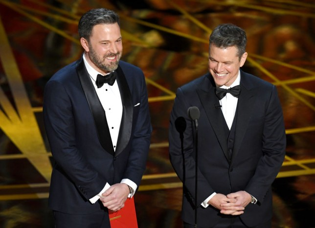 Ben Affleck and Matt Damon appear at the 89th Academy Awards in 2017