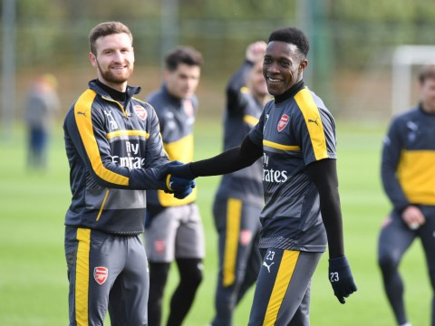 Arsenal stars train ahead of Premier League clash against Liverpool – pictures