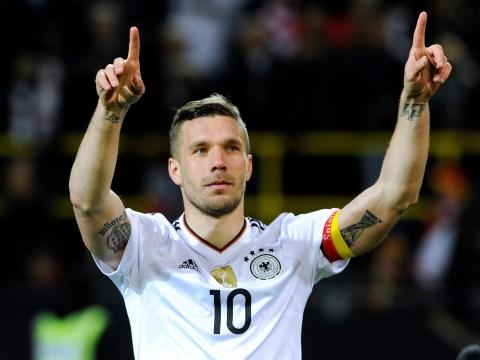 Arsenal legend Ian Wright reminds Lukas Podolski of Gunners' history