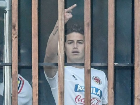 James Rodriguez gives middle finger salute to journalists