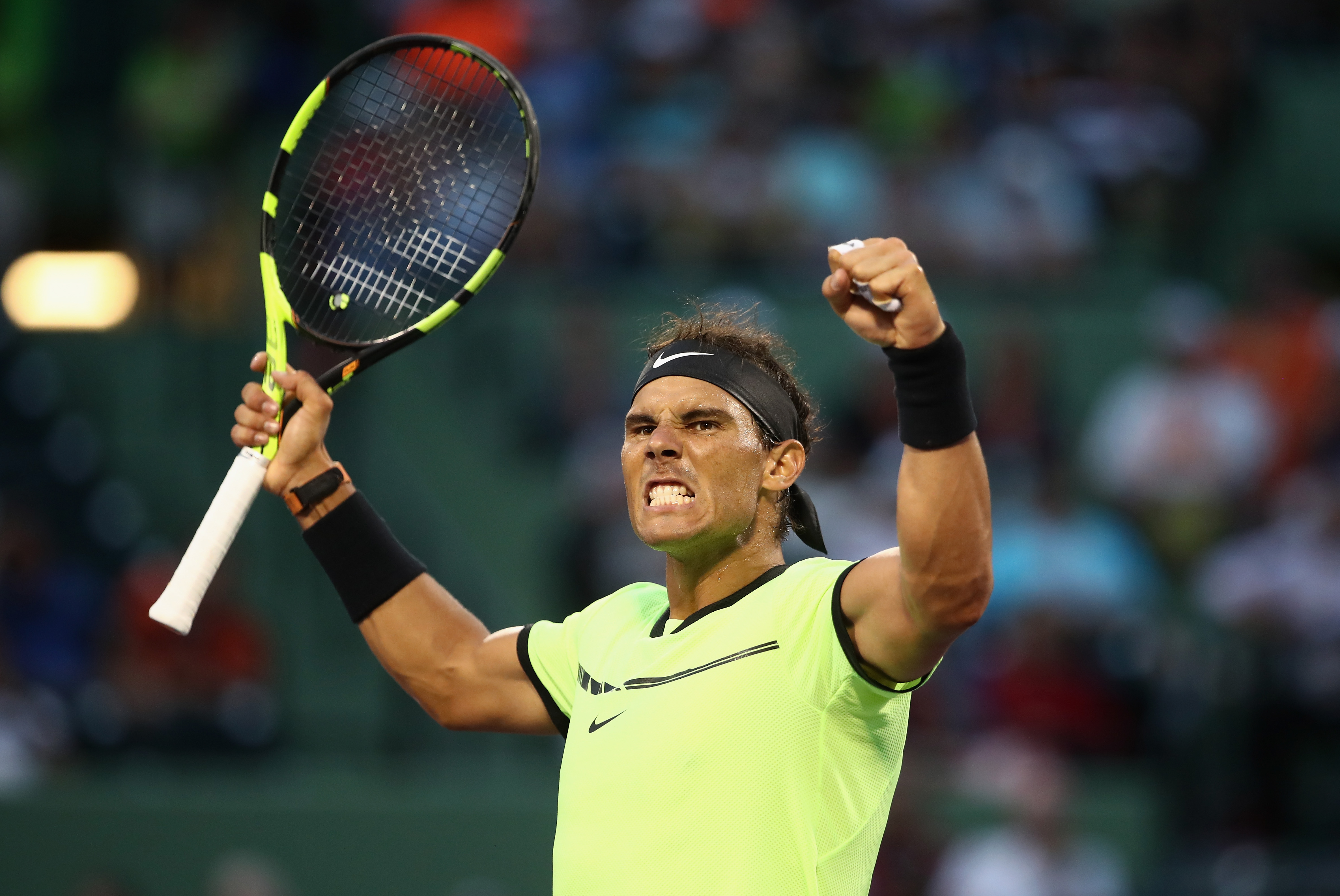 Rafael Nadal bagelled in 1000th match but fights back to reach Miami Open round four