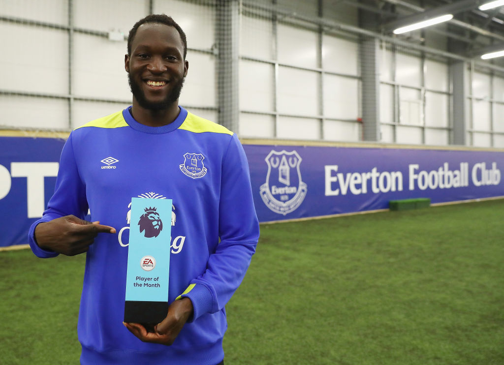 Romelu Lukaku's transfer value continues to soar as Everton forward wins Premier League Player of the Month award for March