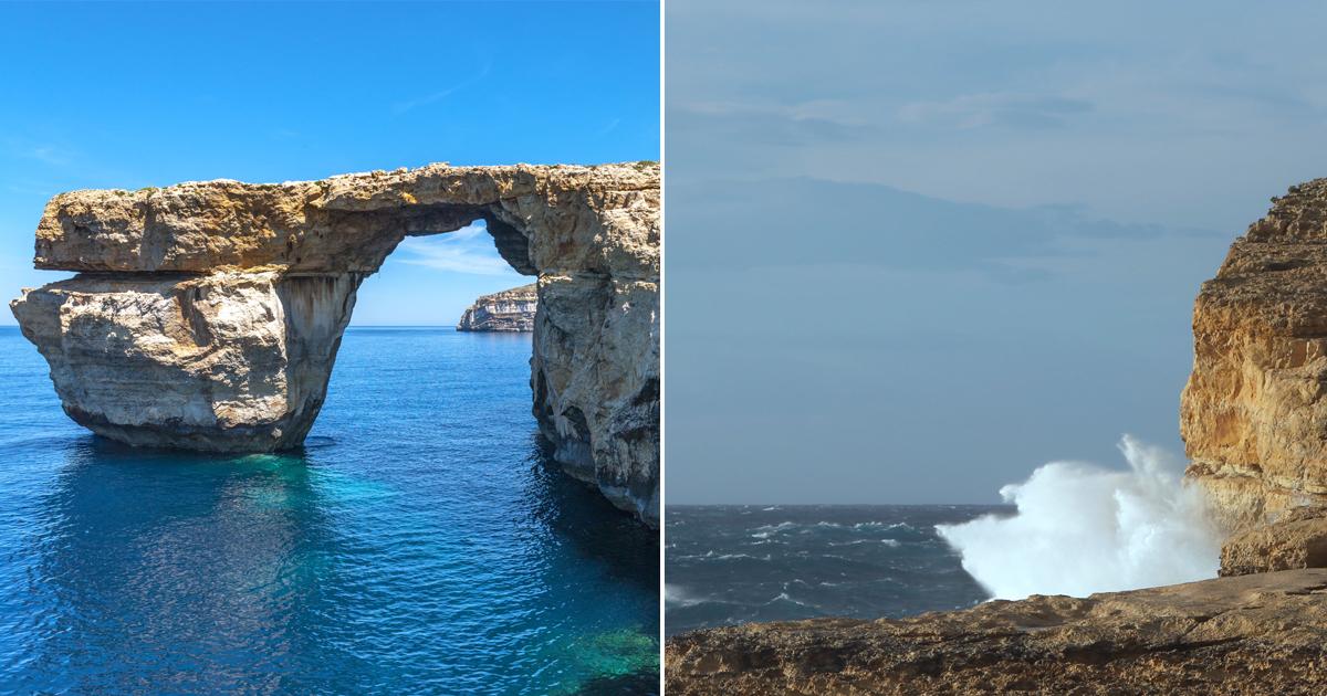 Malta's famous Azure Window rock formation collapses