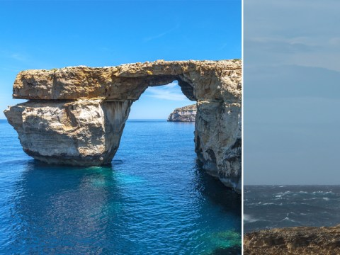 Malta's famous Azure Window rock formation collapses