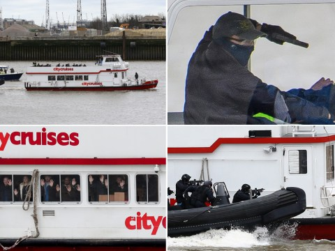 Armed police swarm 'hijacked' Thames boat in terrifyingly realistic drill