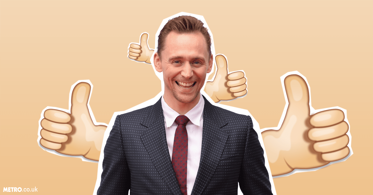 Tom Hiddleston has revealed his most-used emoji is the classic thumbs up (Picture: Getty Images)