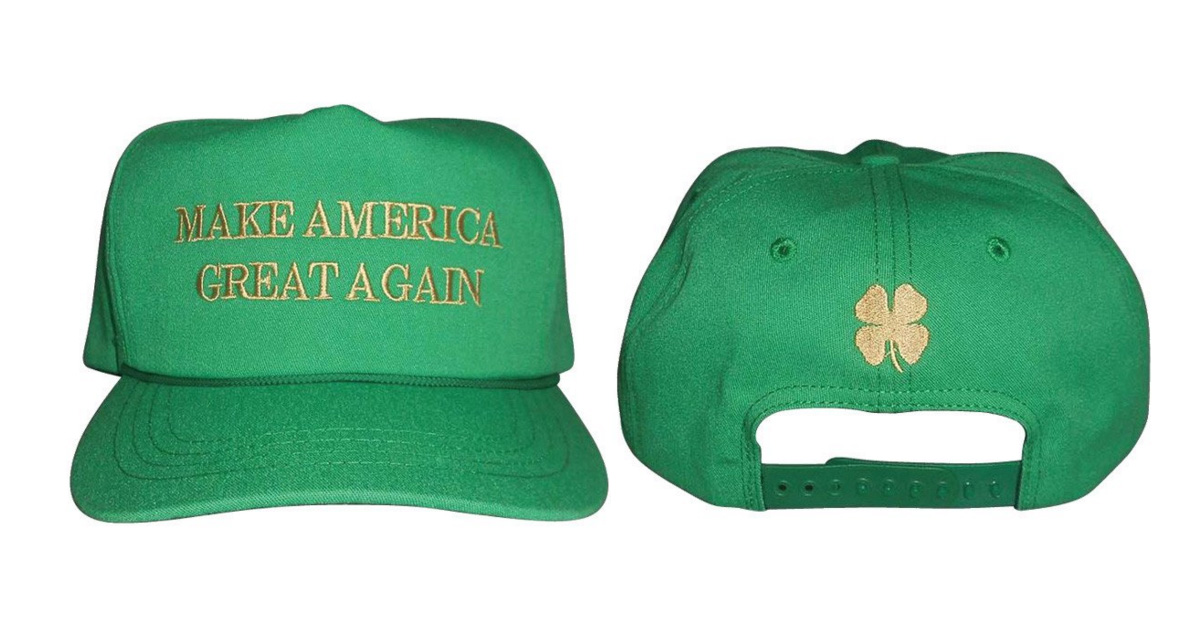 Donald Trump's St Patrick's Day hat has an embarrassing mistake on it