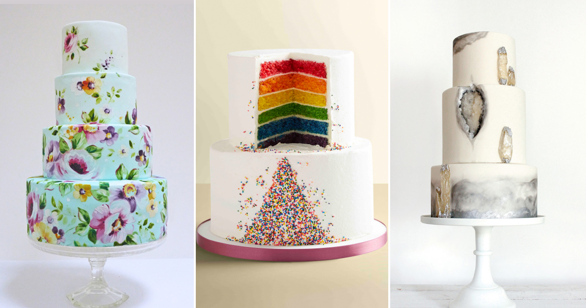 The top 17 wedding cake trends for 2017