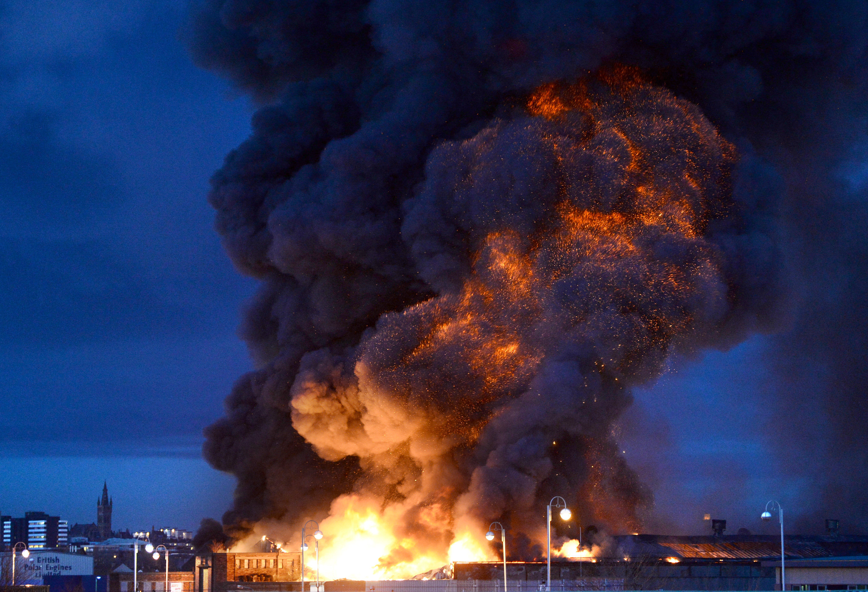 Thousands of people have been left without power as a result of the fire (Picture: SWNS)