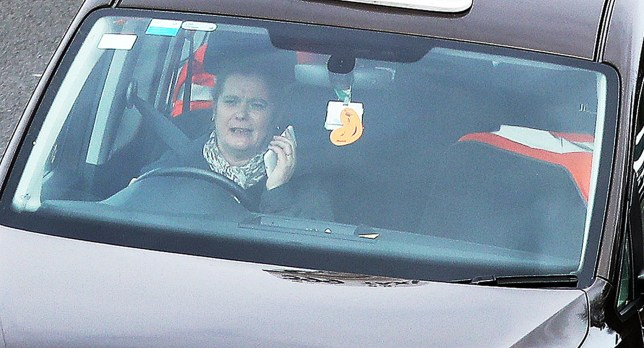A taxi driver holding a mobile phone whilst driving on the A34 near Didcot in Oxfordshire. PRESS ASSOCIATION Photo. Picture date: Wednesday March 1, 2017. Penalties and fines for offenders caught using their phone behind the wheel will be doubled to six points and £200 respectively from today. See PA story TRANSPORT Mobiles. Photo credit should read: Steve Parsons/PA Wire