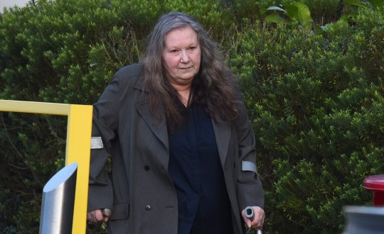 Pictured: Margaret Peacock outside Basingstoke Magistrates' Court. An award-winning dog breeder killed eight border collie puppies by stuffing them in a freezer, a court heard. Margaret Peacock, 63, destroyed the newborn canines by putting them in the freezer cabinet after a vet refused to put them down. Peacock had feared the puppies might have genetic mutations because their parents had been sister and brother. She made two phone calls to vets threatening to kill the blue merle border collie pups herself if they would not help her, Basingstoke Magistrates' Court, in Hampshire, was told. SEE OUR COPY FOR DETAILS. © Solent News & Photo Agency UK +44 (0) 2380 458800