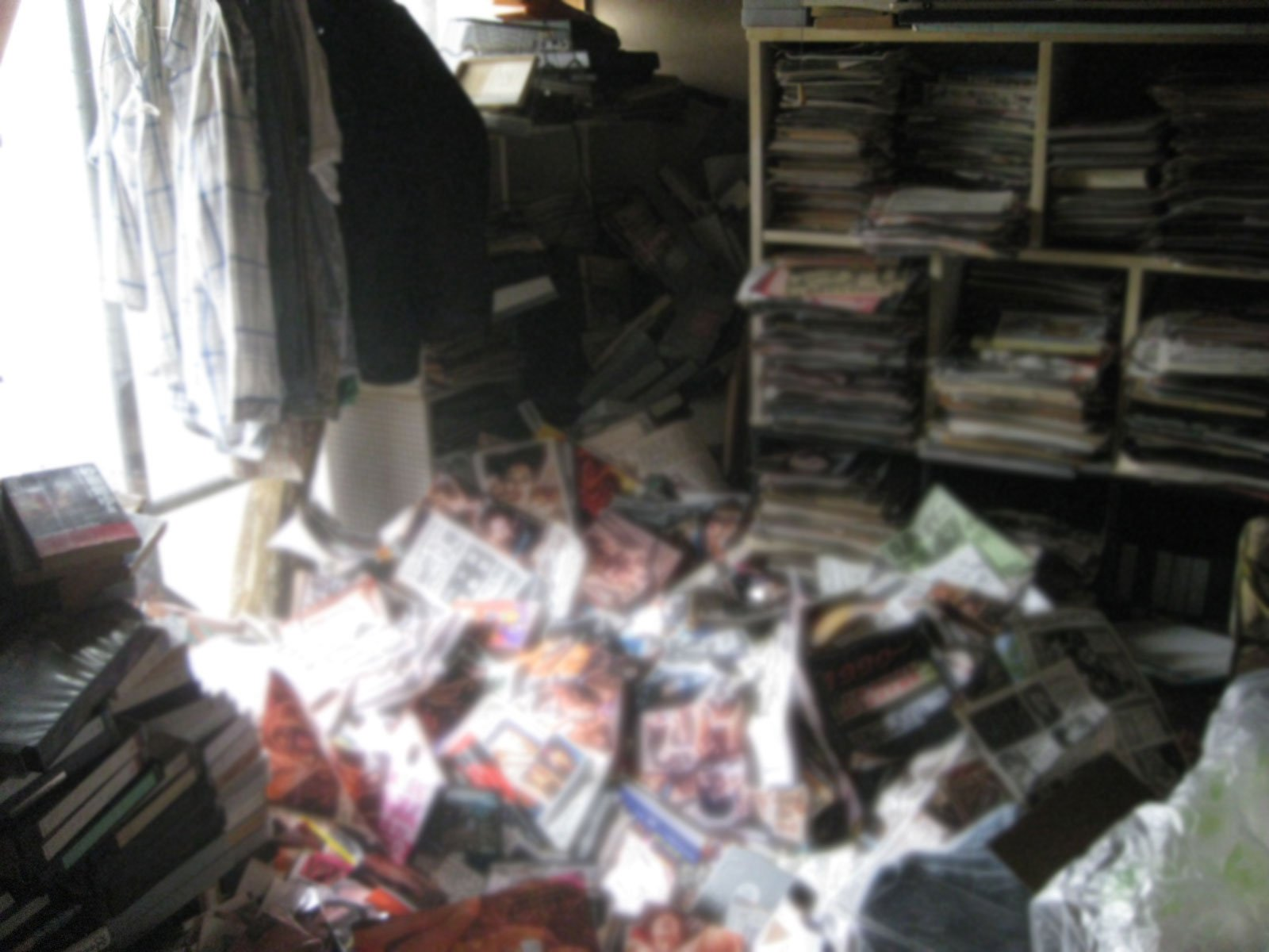 Pic shows: Scene where body was recovered from under a six-ton pile of erotic magazines. By Gabriel Zamfir The secrets of the lonely dead in Japan have been revealed by a man hired to clear out their homes of potentially embarrassing items. Mr. Takada who works with Mind - a company that cleans and clears out the homes of the deceased - says the numbers of people dying alone in Japan is on the rise. The Japanese even have a word for it - kodokushi - and many are not discovered until long after they passed away. Takada recalled one lonely death in Kanagawa Prefecture of a 50-year-old man who left behind an incredible SIX TONS of pornographic magazines in his apartment. He collapsed in his home from a heart attack and was found partially buried beneath the Everest of XXX magazines which Takada had to discretely dispose of. He was not found for some time but his leaking body fluids were absorbed by the magazines. This is often not the case and people in apartments below those where someone has died often notice noxious fluid from the dead seeping into their homes. (ends)