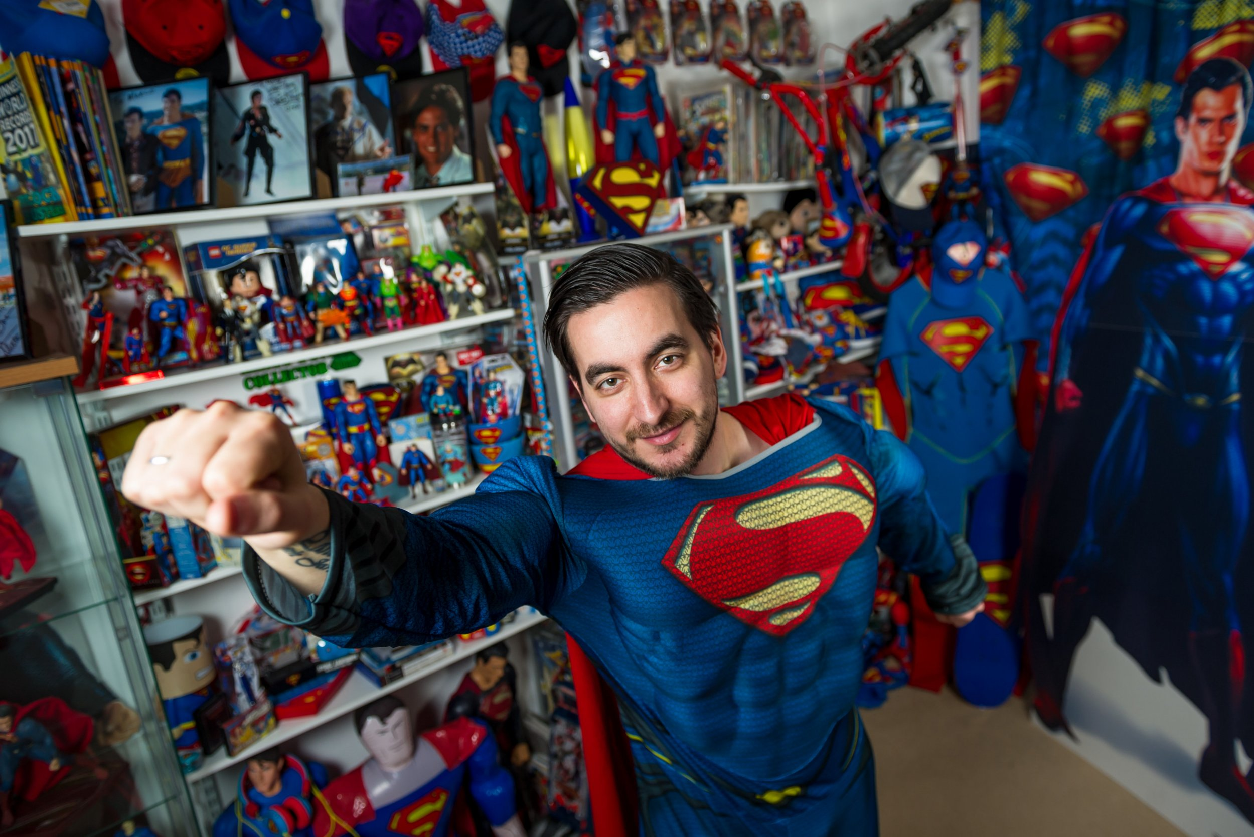 Totally Comical : Fan changes name to SUPERMAN and amasses largest memorabilia collection