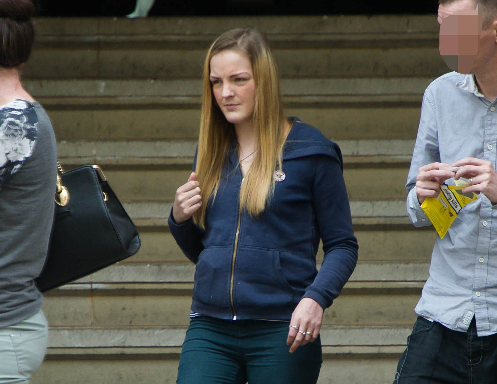 Pictured outside court is Charlotte Jackson who has been hauled back into court after her baby Cassie died of injuries she suffered five years earlier during violent shakings by Jackson. Disclaimer: While Cavendish Press (Manchester) Ltd uses its' best endeavours to establish the copyright and authenticity of all pictures supplied, it accepts no liability for any damage, loss or legal action caused by the use of images supplied. The publication of images is solely at your discretion. For terms and conditions see http://www.cavendish-press.co.uk/pages/terms-and-conditions.aspx