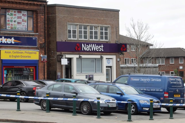 """Police placed a Birmingham bank on lockdown after a man reportedly stormed in with a pistol and took staff hostage. See NEWSTEAM story. Negotiators at the scene of the Natwest branch arrested one man after firearms officers contained the building. A West Midlands Police spokesman said: """"Police received an emergency call at 11.45am reporting a man with a firearm inside NatWest bank in Bristol Road South, Northfield. """"Response and armed officers have contained the building and police negotiators are on the scene."""" One man was later arrested by police."""