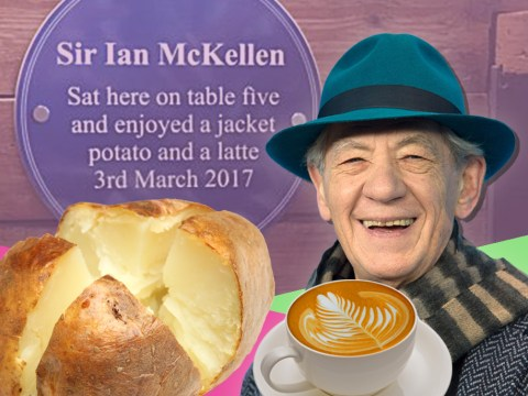 Blue plaque unveiled at spot where Sir Ian McKellen tucked into 'a jacket potato and a latte'