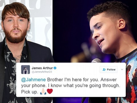 James Arthur offers X Factor's Jahmene Douglas support after troubling suicidal tweet: 'Brother I'm here for you'