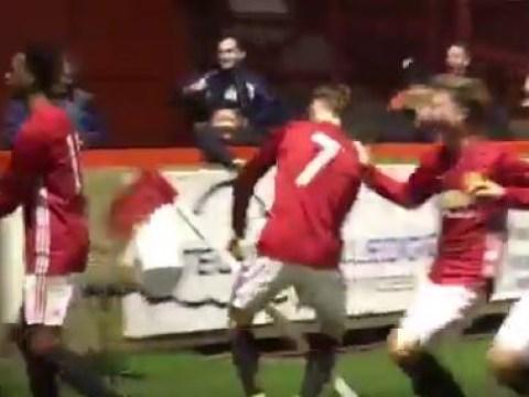 Watch: Man Utd's Under-18s go WILD after Aidan Barlow scores screamer against Liverpool