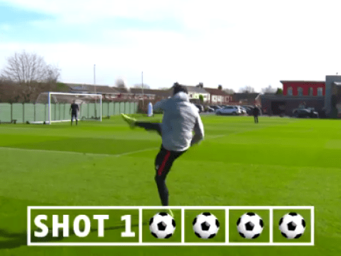 Emre Can effortlessly recreates Papiss Cisse's famous volley against Chelsea in 2012