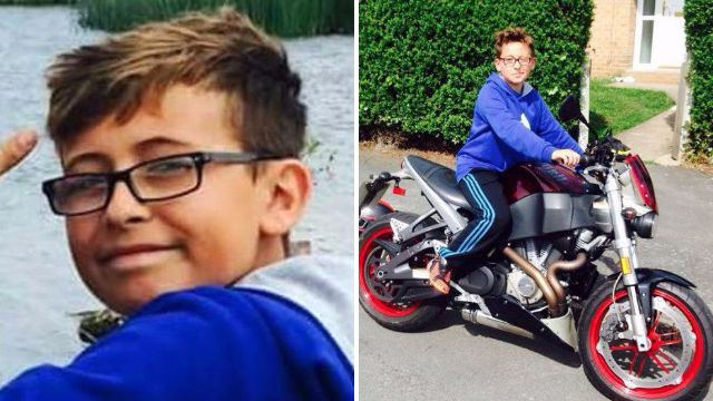 Boy died in shed fire while cleaning bike by candle light when petrol fumes ignited