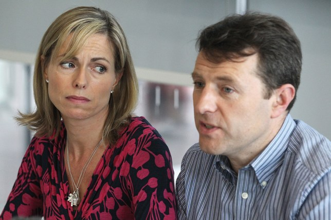 """LONDON, ENGLAND - MAY 02: Kate and Gerry McCann hold a news conference to mark the 5th anniversary of the disappearance of their daughter Madeleine McCann, on May 2, 2012 in London, England. The McCann's today stated that there is """"no doubt"""" that authorities will re-open the investigation into their daughter's disappearance. Three-year-old Madeleine went missing while on holiday with her parents in the Algarve region of Portugal in May 2007. (Photo by Dan Kitwood/Getty Images)"""