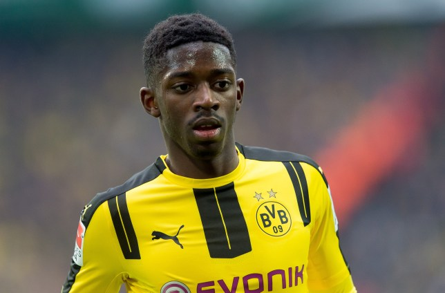 DORTMUND, GERMANY - FEBRUARY 18: Ousmane Dembele of Dortmund looks on during the Bundesliga match between Borussia Dortmund and VfL Wolfsburg at Signal Iduna Park on February 18, 2017 in Dortmund, Germany. (Photo by TF-Images/Getty Images)