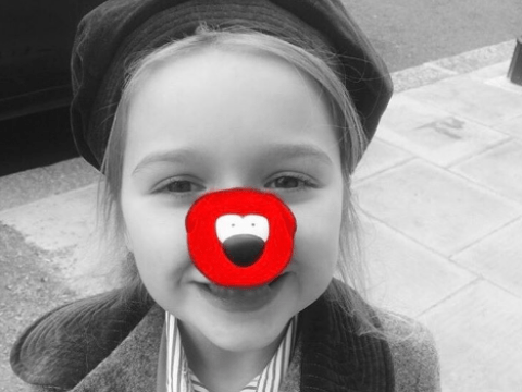 Harper Beckham gets Red Nose Day ready in adorable pic of her wearing her red nose