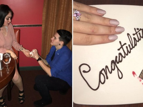 This pair of friends staged a fake proposal to get some free dessert