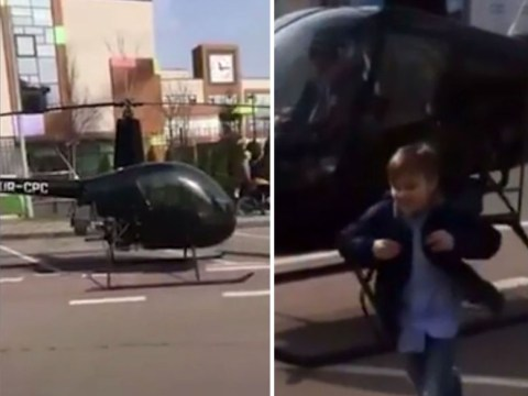 Dad 'does school run in helicopter after his son was late to class'