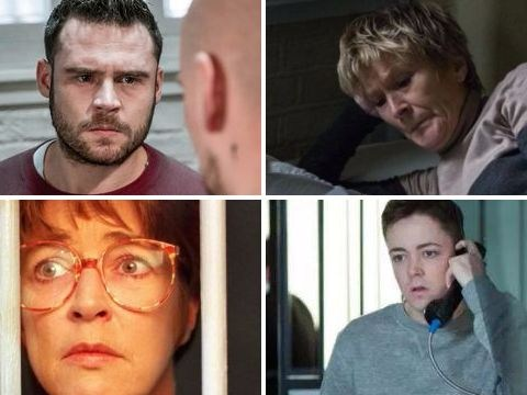 As Aaron in Emmerdale and Shirley in EastEnders languish in prison, 10 other soap characters who endured jail