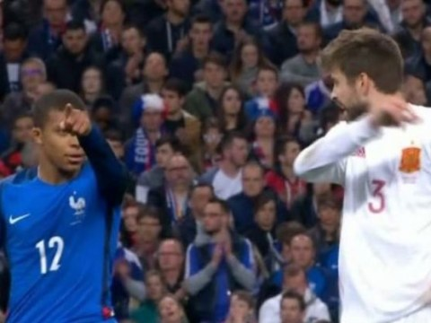 Kylian Mbappe shows he's perfect for Real Madrid by snubbing on-field shirt-swap with Gerard Pique