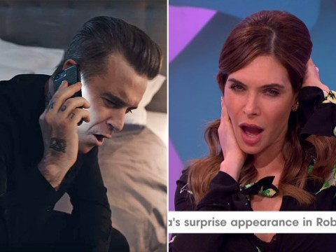 Robbie Williams's wife Ayda Field has a lesbian affair in alternate Mixed Signals video