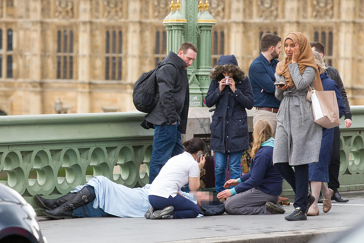 Muslim woman branded a 'monster' for 'casually' walking past Westminster attack victim speaks out
