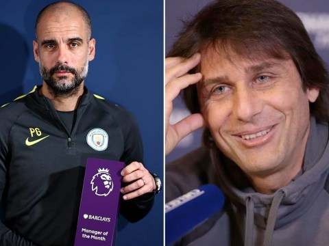 Pep Guardiola claims Antonio Conte is behind his Premier League 'Manager of the Month' award win