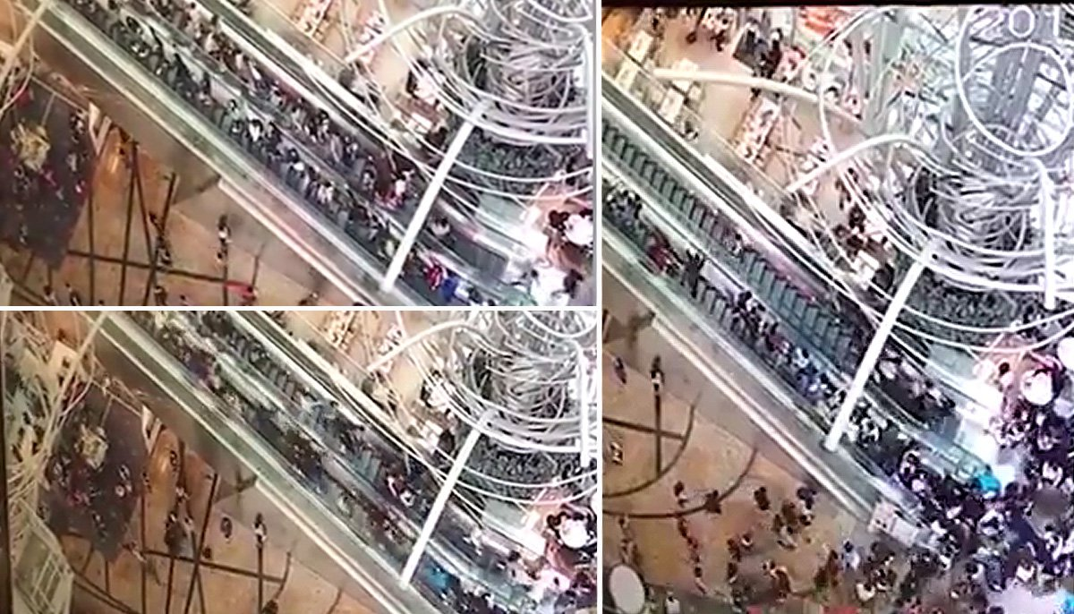 Shopping centre escalator reverses direction leaving 18 injured
