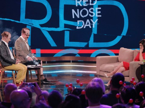 Viewers feel sorry for Susanna Reid as Bob Mortimer and Vic Reeves flash 'fake penis' during Comic Relief