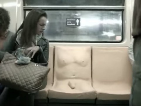'Penis seat' reserved for men appears on public transport