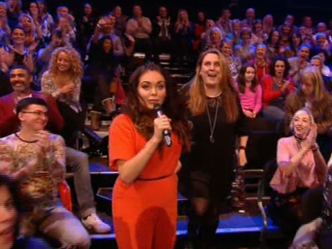 Scarlett Moffatt steals The Voice audience member to take them to Saturday Night Takeaway instead